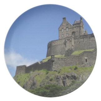 Vista del castillo de Edimburgo, Edimburgo, Escoci Platos
