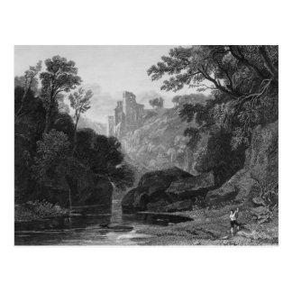 Vista del castillo de Roslin Tarjeta Postal