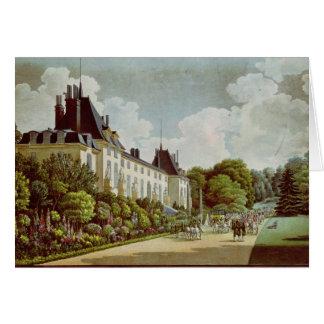 Vista del castillo francés de la Malmaison Felicitacion