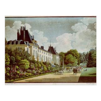 Vista del castillo francés de la Malmaison Postal