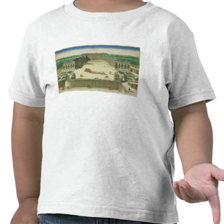 Vista del castillo francés de la nube del St., Camisetas