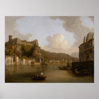 Vista del castillo francés de Pedro Encis Posters
