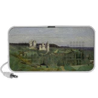 Vista del castillo francés de Pierrefonds, c.1840- iPhone Altavoces
