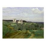 Vista del castillo francés de Pierrefonds, c.1840- Tarjeta Postal