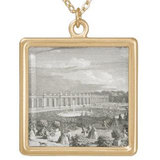 Vista del castillo francés de Trianon, el parterre Colgantes Personalizados
