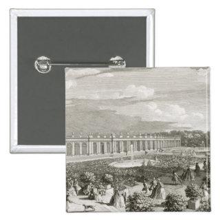 Vista del castillo francés de Trianon, el parterre Pin