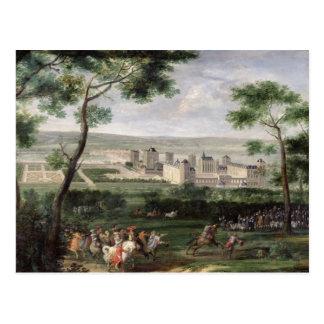 Vista del castillo francés de Vincennes, c.1665 Tarjeta Postal
