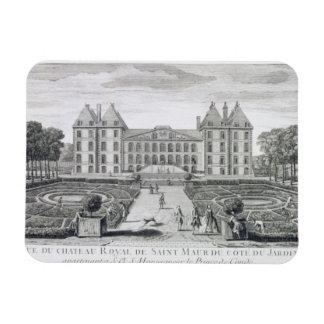 Vista del castillo francés real del santo Maur del Imanes De Vinilo