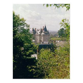 Vista del castillo francés restaurado del norte postal