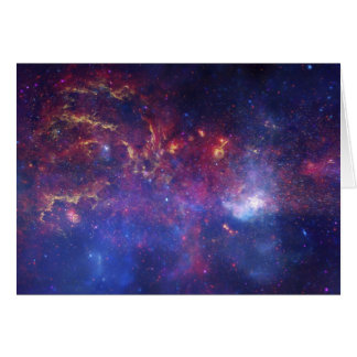 Vista del centro de la galaxia de la vía láctea tarjeton
