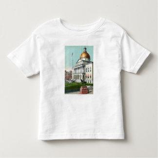 Vista del césped delantero de la casa del estado tshirt
