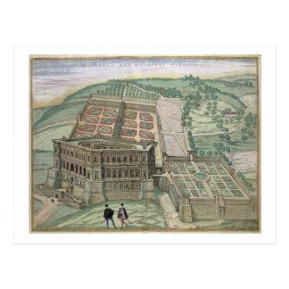 Vista del chalet Farnese y de los jardines, de 'C Tarjeta Postal