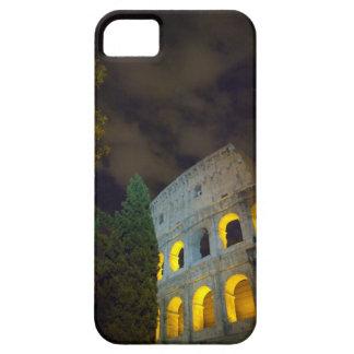 Vista del Coloseum en Roma en la noche Funda Para iPhone SE/5/5s