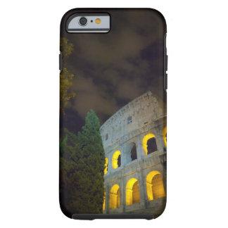 Vista del Coloseum en Roma en la noche Funda Resistente iPhone 6