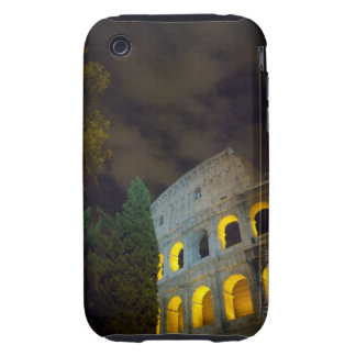 Vista del Coloseum en Roma en la noche Funda Though Para iPhone 3