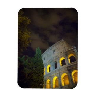 Vista del Coloseum en Roma en la noche Imán Foto Rectangular