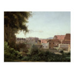 Vista del Colosseum de los jardines de Farnese Tarjetas Postales