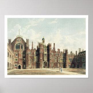 Vista del cuadrilátero en el palacio del Hampton C Póster