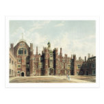 Vista del cuadrilátero en el palacio del Hampton C Tarjeta Postal
