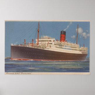Vista del Cunard R M L Franconia Posters