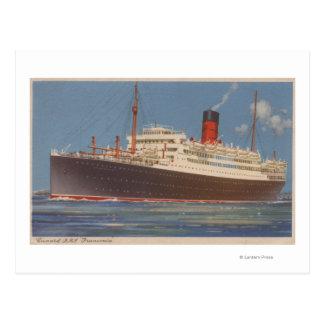 Vista del Cunard R.M.L. Franconia Tarjetas Postales