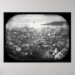 Vista del Daguerreotype 1855 del puerto de San Fra Impresiones