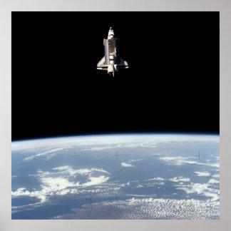 Vista del desafiador del transbordador espacial so posters