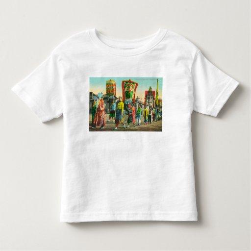 Vista del desfile de las pinzas, Chinatown Remeras