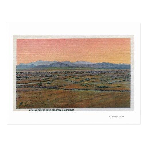Vista del desierto del Mohave Postales