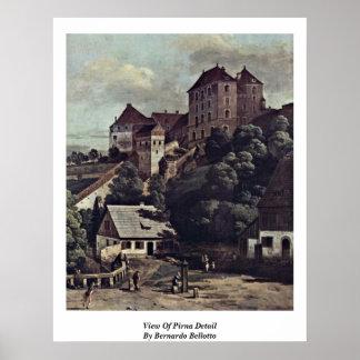 Vista del detalle de Pirna de Bernardo Bellotto Poster