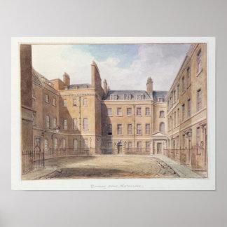 Vista del Downing Street, Westminster Póster