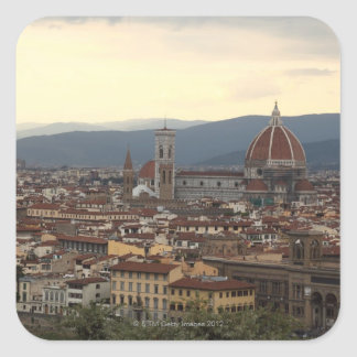 Vista del Duomo Santa María Del Fiore adentro Pegatina Cuadrada