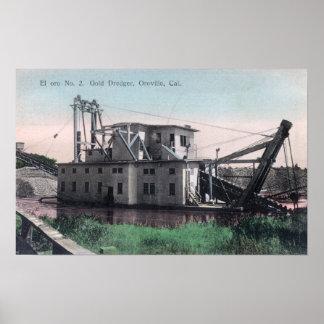 Vista del EL Oro # 2 oro DredgerOroville, CA Posters