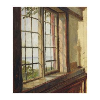 Vista del Elba a través de una ventana, 1838 Lienzo Envuelto Para Galerías