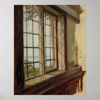 Vista del Elba a través de una ventana, 1838 Póster
