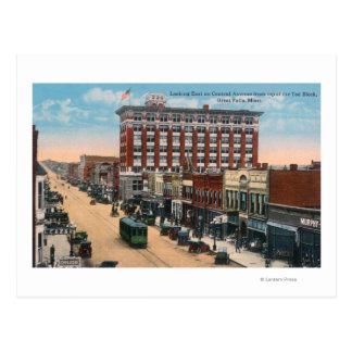 Vista del este de las caídas centrales de tarjetas postales