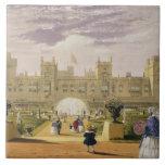 Vista del este del castillo y del jardín, Windsor  Azulejo Cuadrado Grande