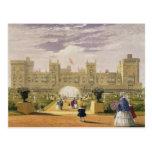 Vista del este del castillo y del jardín, Windsor Postal