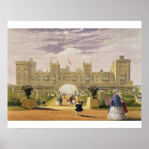 Vista del este del castillo y del jardín, Windsor  Póster