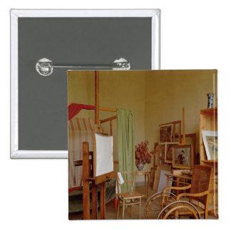 Vista del estudio de Renoir, usada a partir de 190 Pin Cuadrada 5 Cm