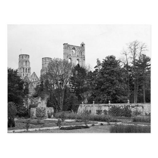 Vista del exterior de la iglesia, c.1052-67 tarjeta postal