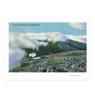 Vista del ferrocarril de diente famoso tarjeta postal