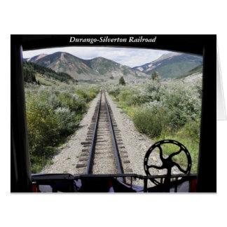 Vista del ferrocarril de Durango-Silverton Tarjeta De Felicitación Grande