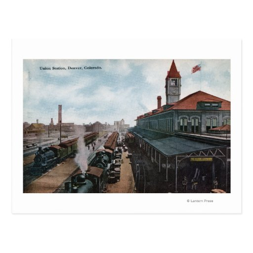 Vista del ferrocarril de la estación de la unión postal