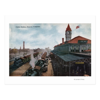 Vista del ferrocarril de la estación de la unión tarjetas postales