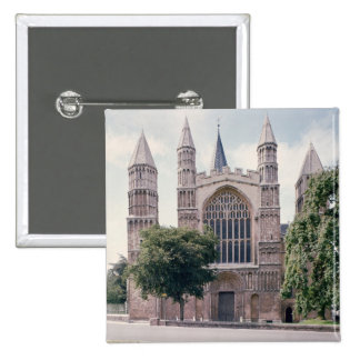 Vista del frente del oeste de la catedral de Roche Pin Cuadrada 5 Cm