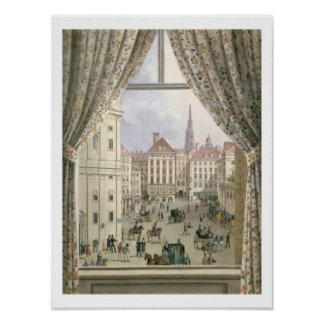 Vista del Freyung, Viena, 1825 (aguazo en pape Póster