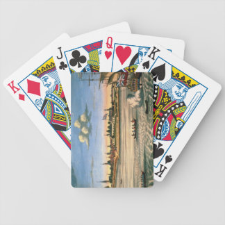 Vista del fuerte George, con la ciudad de Nueva Yo Baraja Cartas De Poker