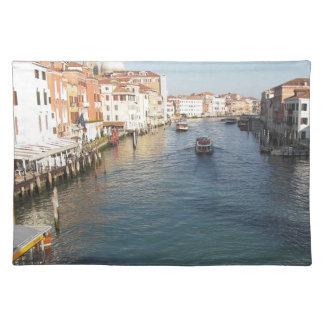 Vista del Gran Canal famoso en Venecia, Italia Mantel