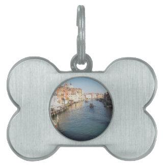 Vista del Gran Canal famoso en Venecia, Italia Placa De Mascota